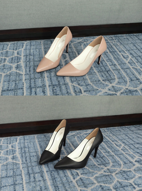 [수제화공정] basic nude_ pumps