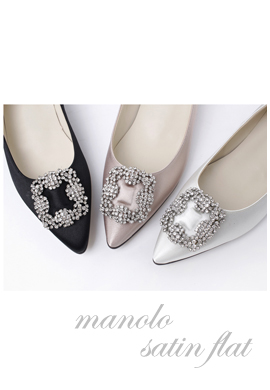 manolo satin_ flat