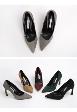 [5color] suede unbal_ pumps