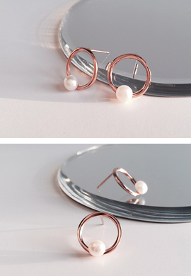 rose.gold ring&pearl_ E