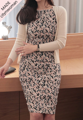 barbie printed midi_ ops